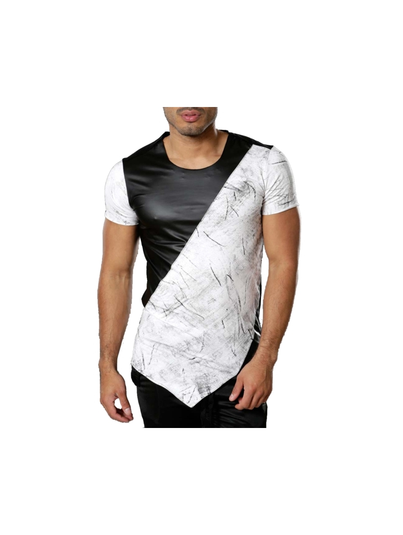 tee shirt blanc original de marque tendance vetement fashion homme. Black Bedroom Furniture Sets. Home Design Ideas