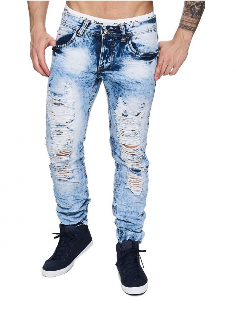 jean pe troue delave fringue homme discount