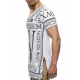 tee shirt blanc long homme fashion